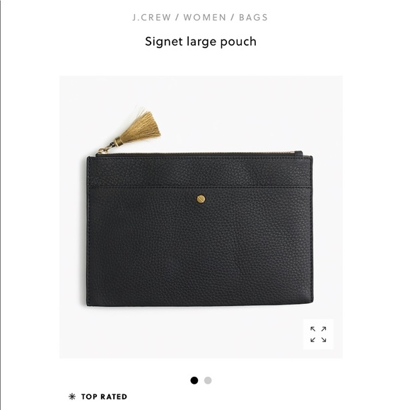 J.Crew Signet Large Leather Pouch NWT